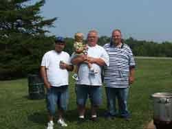 L-R - Kenny Anderson - Bob Hoskins holding Logan Hoskins and Bobby Hoskins