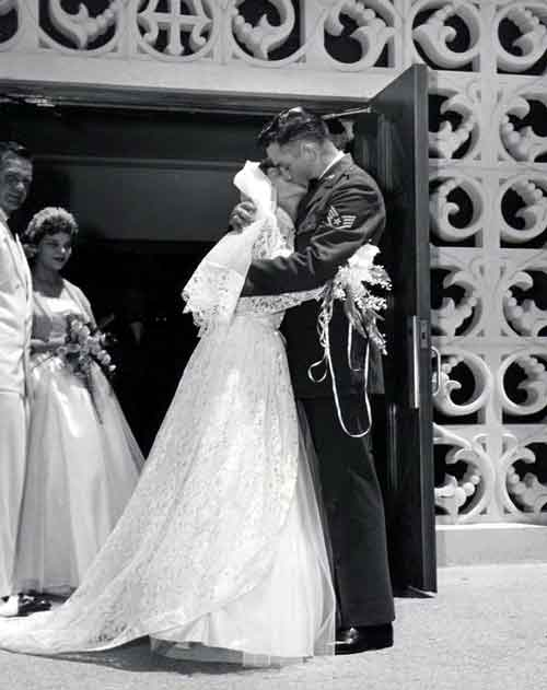 Vivian Dorraine Liberto and Johnny Cash Wedding Day