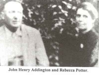 John Henry Addington and Rebecca Potter
