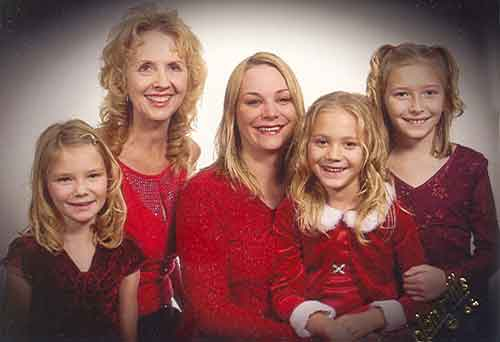 Janice Gale Rogers Potter and Daughter and Grand daughters